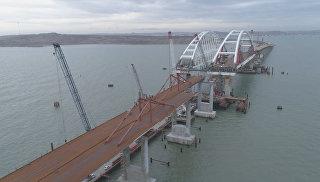 Крымский мост с высоты птичьего полета – видео