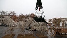 Украшение центральных улиц Севастополя к Новому году