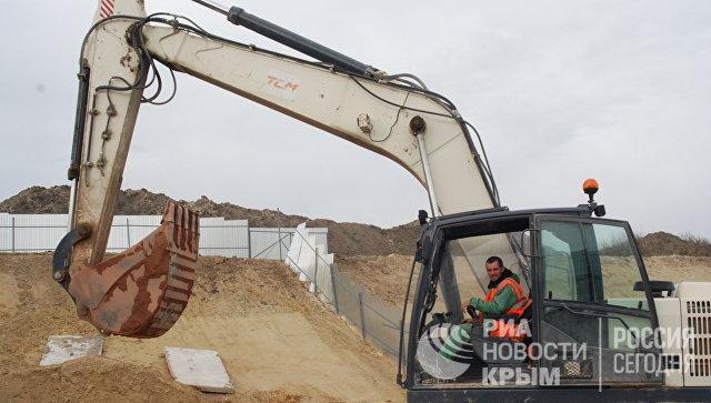 Строительство севастопольской развязки на объездной дороге Дубки - Левадки