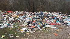 Свалка за границами населенных пунктов в Крыму