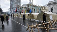 Сторонники М. Саакашвили разбили палаточный городок в центре Киева
