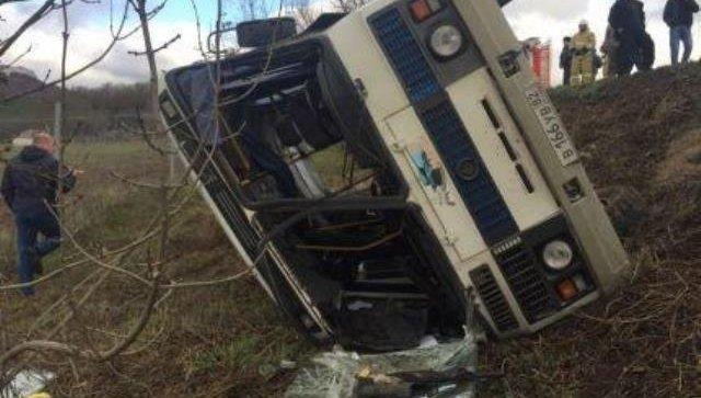 ДТП с пассажирским автобусом в Крыму. 8 декабря 2017