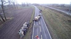 На обочине: американская военная техника увязла в грязи в Польше