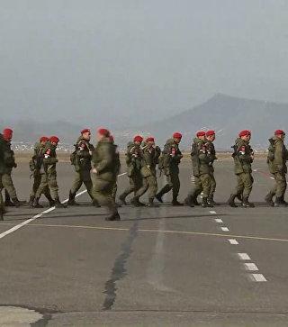 Возвращение на Родину: батальон военной полиции прилетел из Сирии в Махачкалу