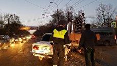 ДТП на перекрестке улицы Севастопольская и переулка Гренажный