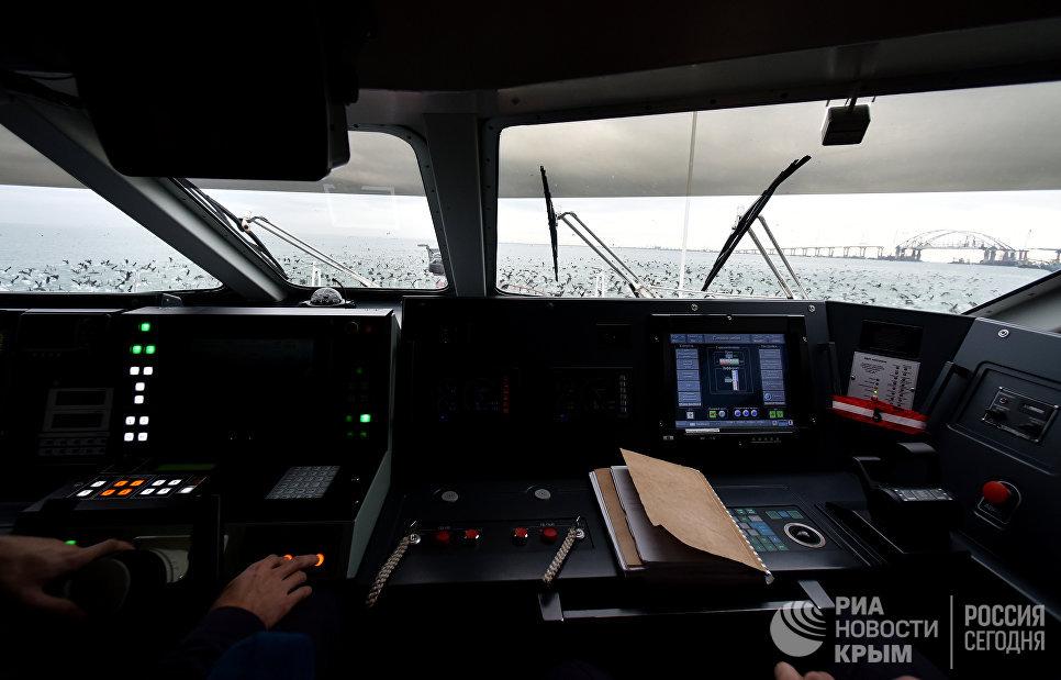 Капитанский мостик пограничного катера-перехватчика проекта Соболь