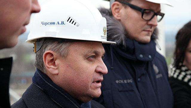 Заместитель министра энергетики РФ Андрей Черезов во время визита в Севастополь