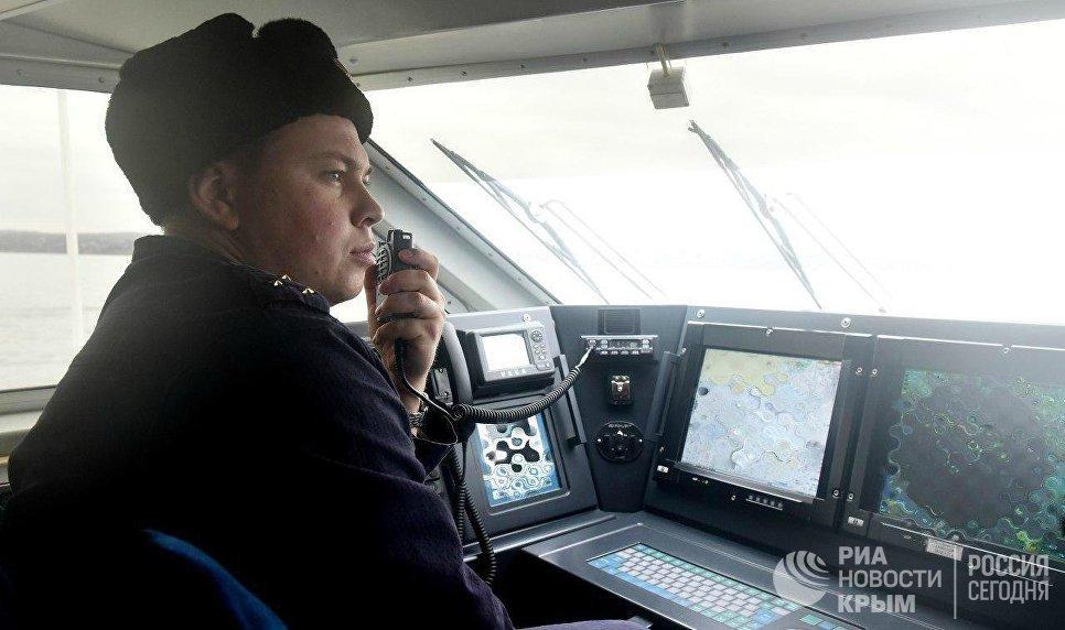 Командир пограничного катера-перехватчика проекта Соболь Алексей Саулин