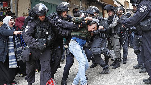 Столкновение палестинцев с правоохранителями Израиля