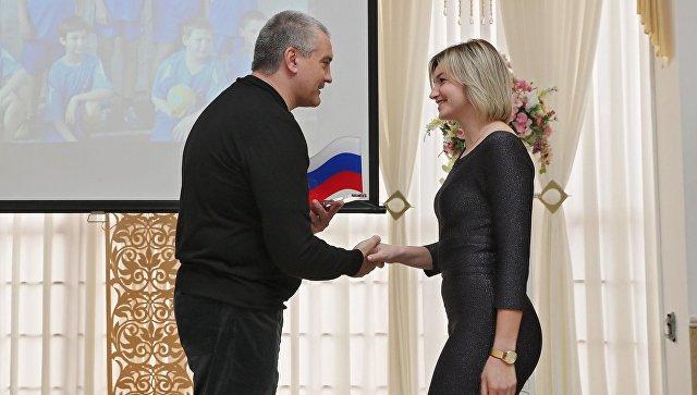 Глава Республики Крым Сергей Аксенов принял участие поздравил спортсменов в ходе Бала Чемпионов в Симферополе