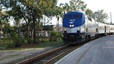 Поезд железнодорожной компании Amtrak. Архивное фото