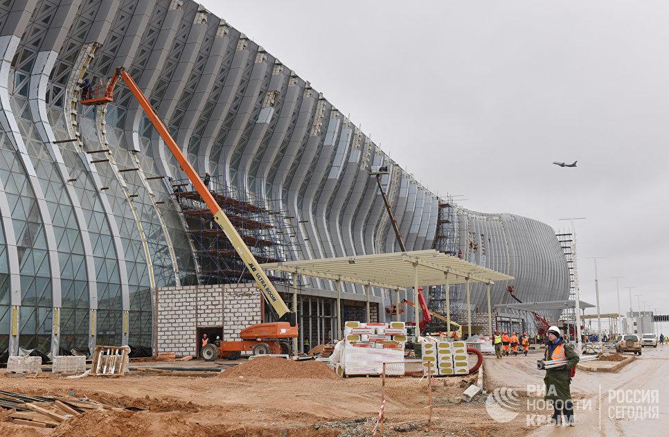 Новый терминал международного аэропорта Симферополь