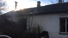 Пожар в селе Широкое Симферопольского района