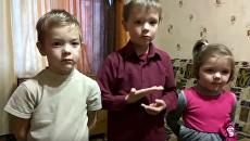 Дети поздравили с Новым годом на языке жестов