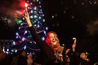 Празднование Нового года в Симферополе