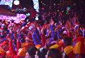 Новогодняя дискотека на Дворцовой площади МДЦ Артек