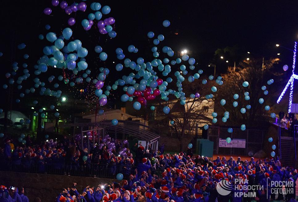 Празднование Нового года в МДЦ Артек