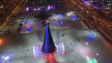 В Перми открылся самый большой в России городок изо льда