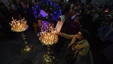 Рождественское всенощное бдение в Александро-Невском кафедральном соборе в Симферополе