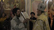 Митрополит Симферопольский и Крымский Лазарь провел божественную литургию в честь Рождества Христова в Александро-Невском кафедральном соборе в Симферополе