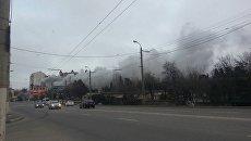 В Севастополе горел склад