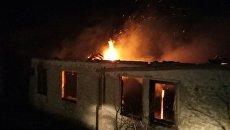 Пожар в селе Новопокровка Кировского района