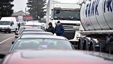 Акция протеста на границе между Украиной и Польшей