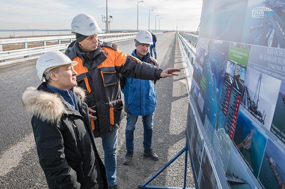 Пик возведения  железной дороги Крымского моста придется на текущий год