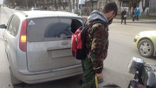 Авария с участием мопеда Viper и автомобиля Ford