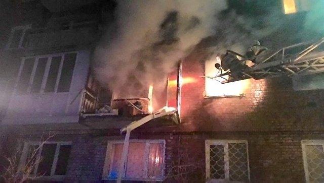 Последствия взрыва газа в жилом доме в Омске. 12 января 2018