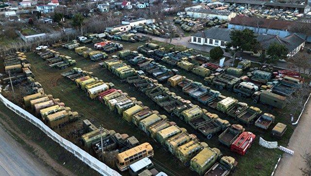 Военная техника, принадлежащая Украине, в Крыму
