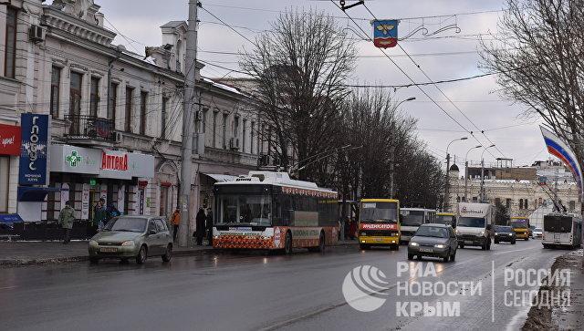 Общественный транспорт в Симферополе зимой