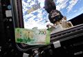 200-рублевая купюра с изображением Севастополя на борту МКС