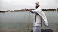 На территории музея-заповедника Херсонес Таврический состоялся крестный ход и освящение воды в честь Крещения Господня