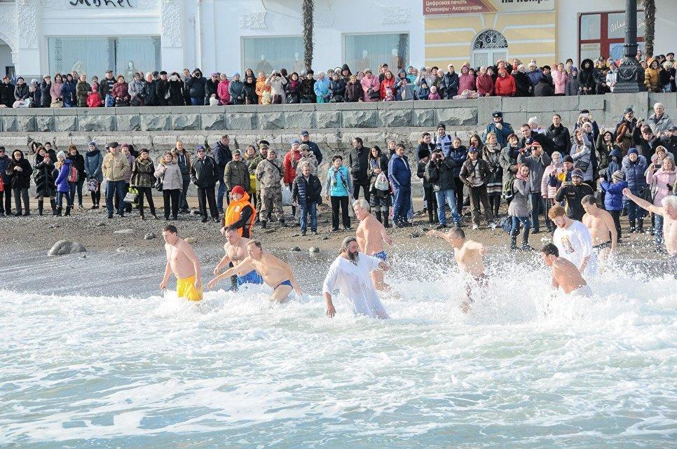 Крещенские купания в Ялте