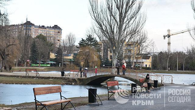 Реконструкция в парке имени Гагарина в Симферополе
