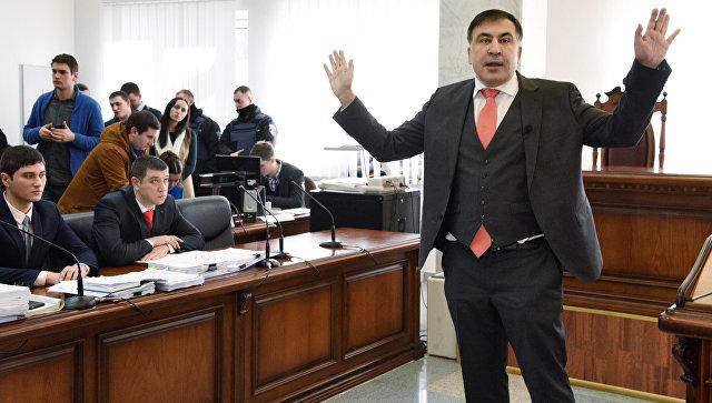 Михаил Саакашвили в Апелляционном суде в Киеве. 26 января 2018