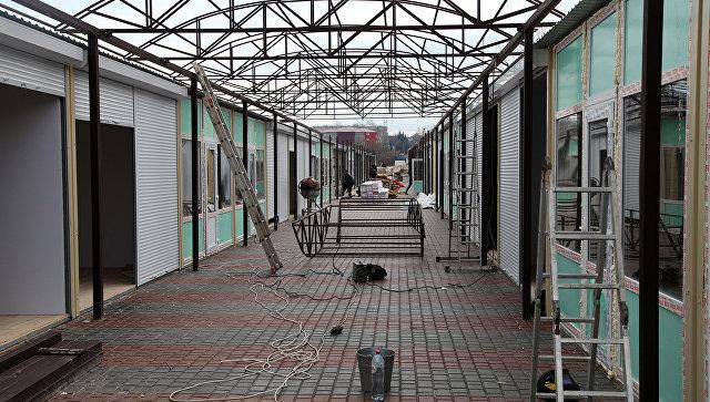 Оборудование мест на ярмарке в районе проспекта Победы в Севастополе