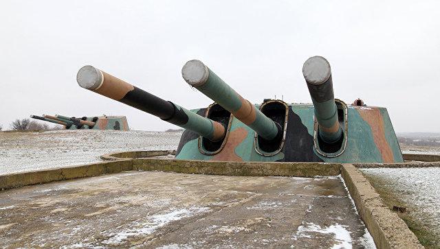 Башни 30-й бронебашенной береговой батареи в Севастополе