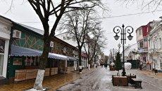 Деревья на ул. Пушкина в Симферополе
