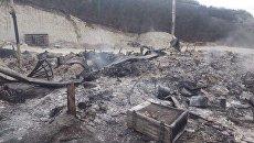 Последствия пожара в Свято-успенском монастыре под Бахчисараем