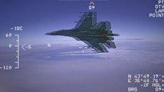Видео перехвата самолета-разведчика над Черным морем