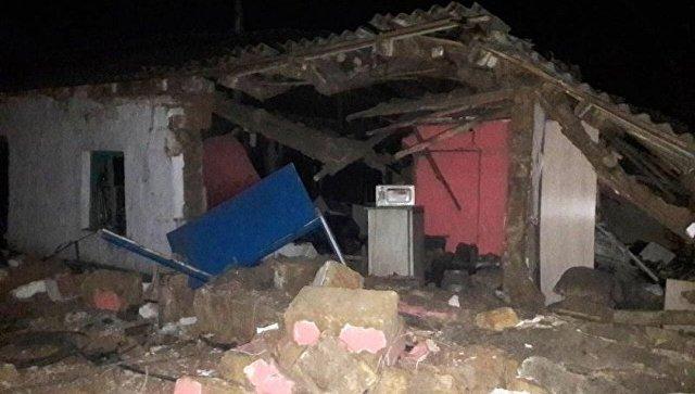 Взрыв газового баллона после пожара в жилом доме в Сакском районе