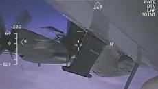Стоп-кадр видео перехвата американского самолета EP-3 Aries над Черным морем