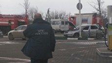 ДТП в Сакском районе с участием автомобиля Skoda и пожарной машины КамАЗ