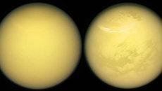 Изображение Титана, спутника Сатурна, сделанное космическим аппаратом НАСА Кассини