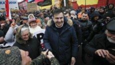 Митинг Михаила Саакашвили и его сторонников в центре Киева. 4 февраля 2018
