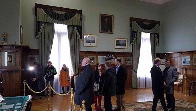 Делегация немецких депутатов в Ливадийском дворце