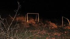 Старые футбольные ворота в Севастополе, под которыми погиб ребенок