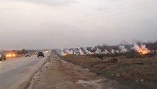 Обрыв провода электропередачи в бахчисарайском районе